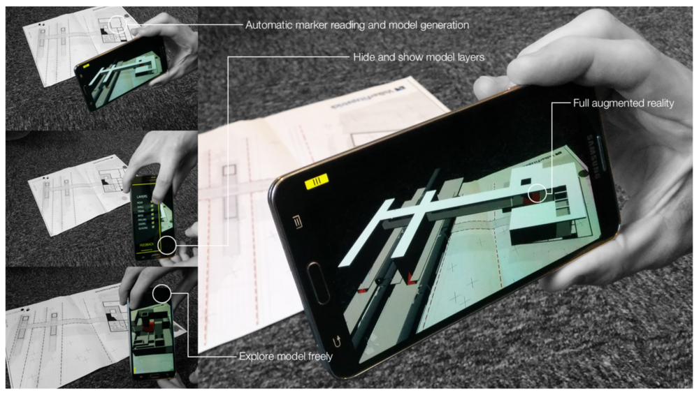 BIM Launcher Augmented Reality app for interactive view of BIM