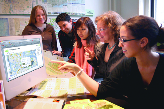 Working with Green Map staff and interns as their award-winning mapping platform was debuting. Today  the platform  hosts over 41,000 sites on 500 Green Maps made in 40 countries. Photo by Carlos A Martinez