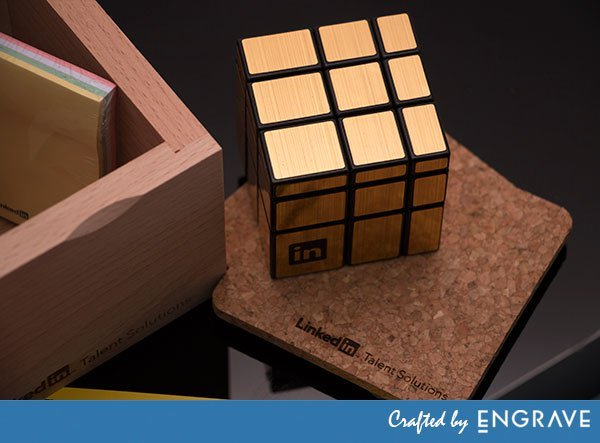 linkedin-magic-cube-and-coasters.jpg