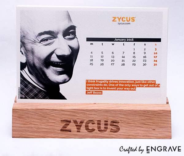 Calendar with Wooden Base