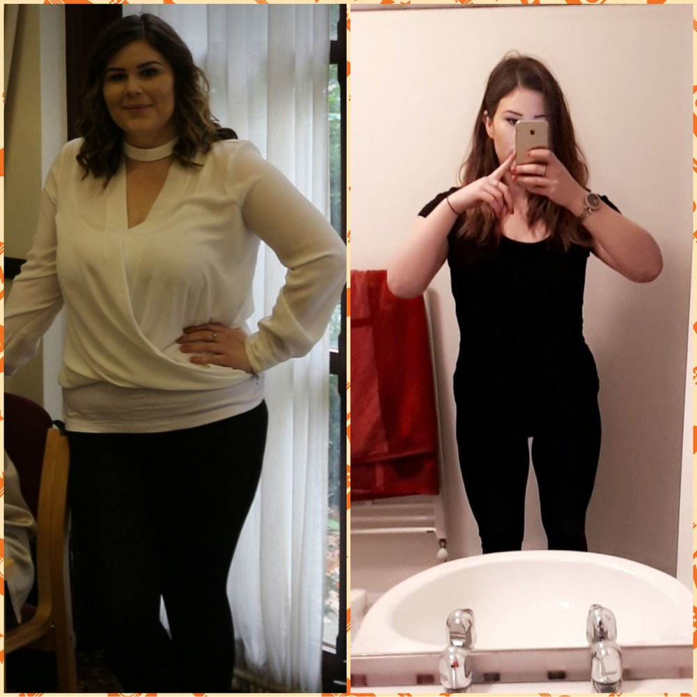 Megan - Megan was very shy and nervous in the early stages of her fitness journey. After a few months Megan really began to open up and made some amazing progress going from 14.8st to 11.6st.
