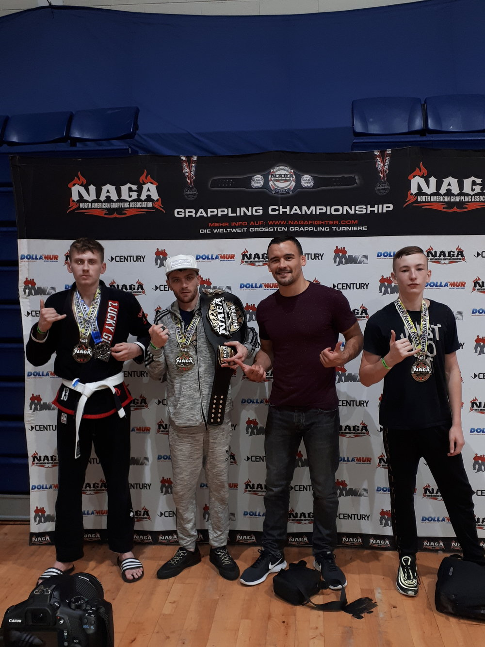 NAGA Dublin - A few of the team traveled to Dublin to compete at the North American Grappling Association. The team came away with 1 Championship Belt, 3 Gold and 1 Silver medal.02/09/2018