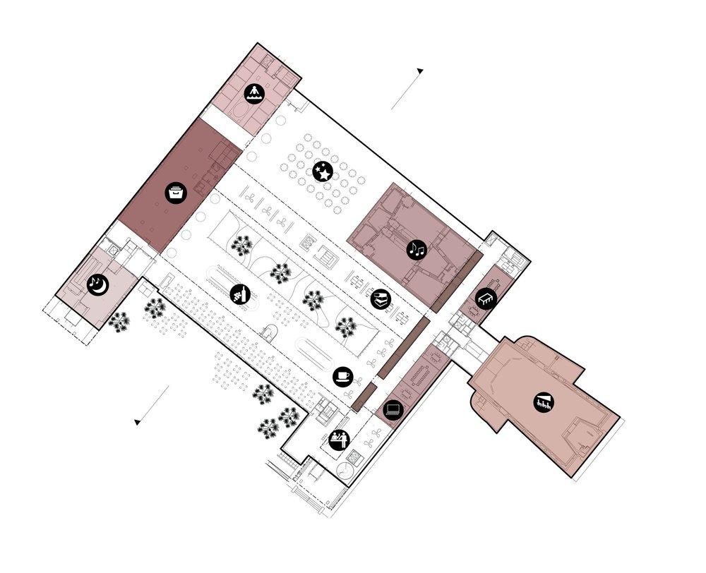 Plan 1, Lobby