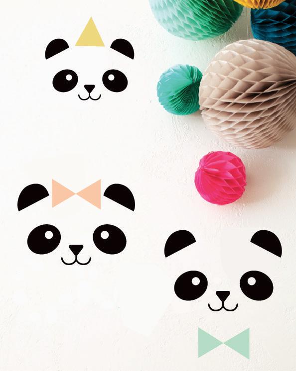Stickers 3 Pandas