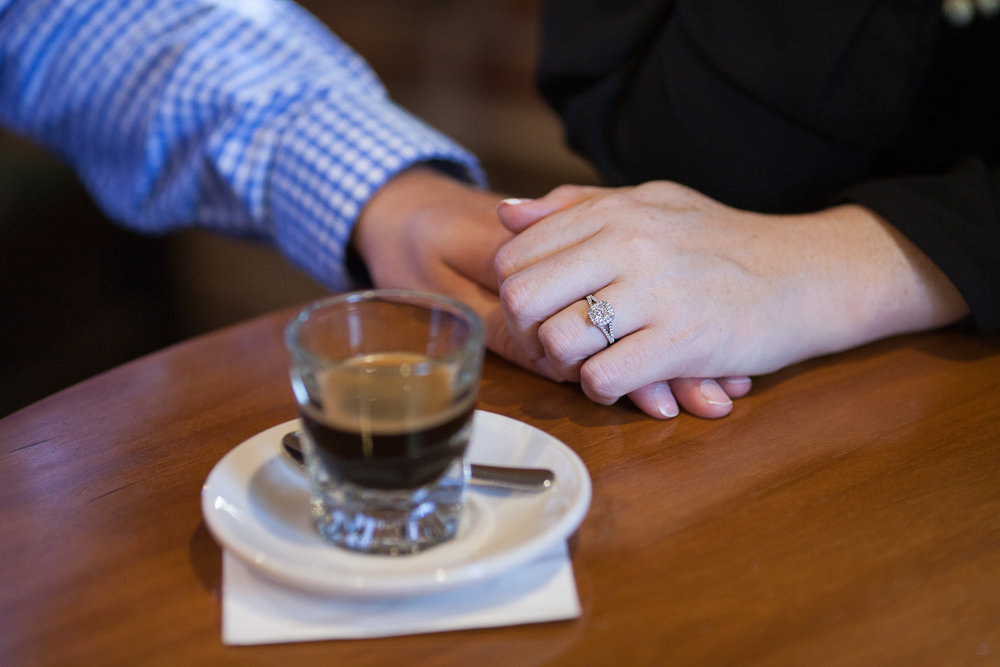 Engagement sessions that include coffee breaks? Yes, please!