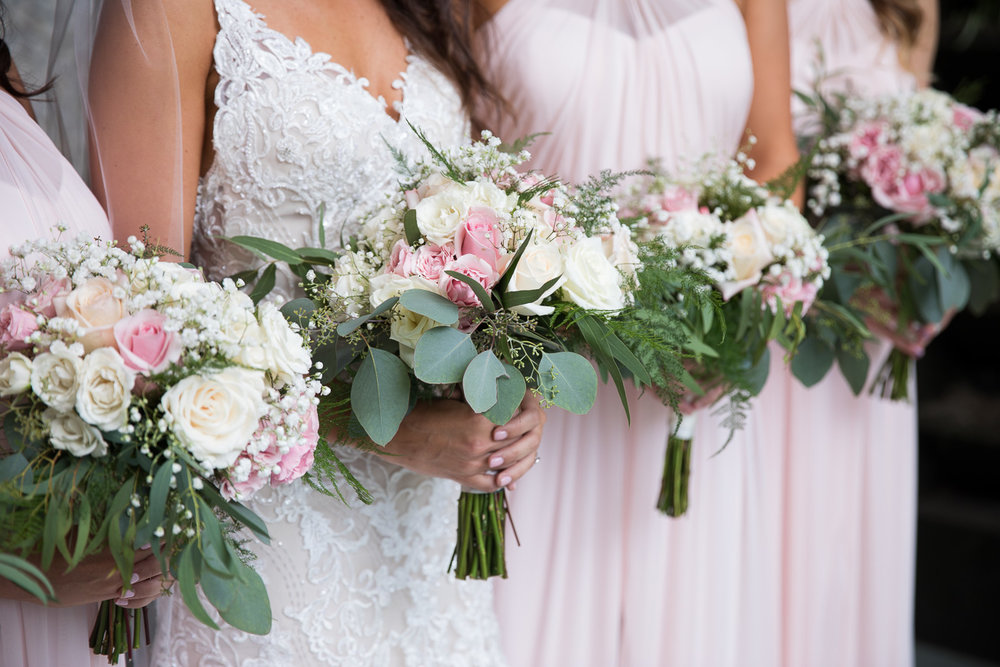 Take a peek at these precious romantic bouquets by The Fountain Events by Chez Charles!