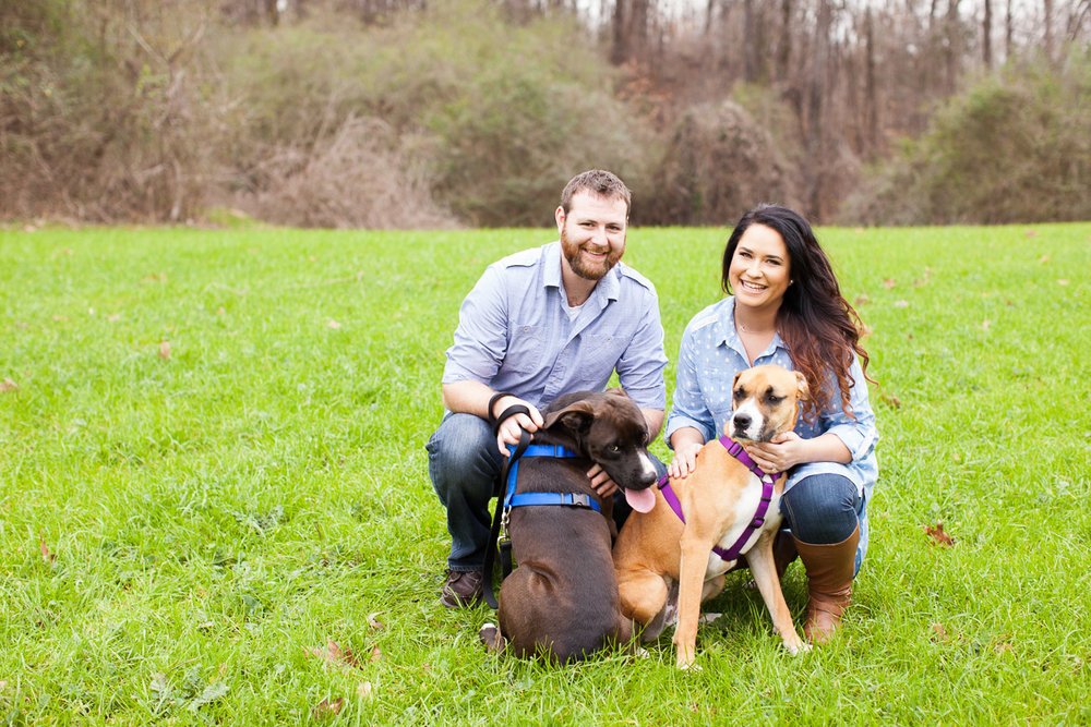 Amanda and Jamie's fur babies were a hoot at their engagement session! And that's just how I like them to be!