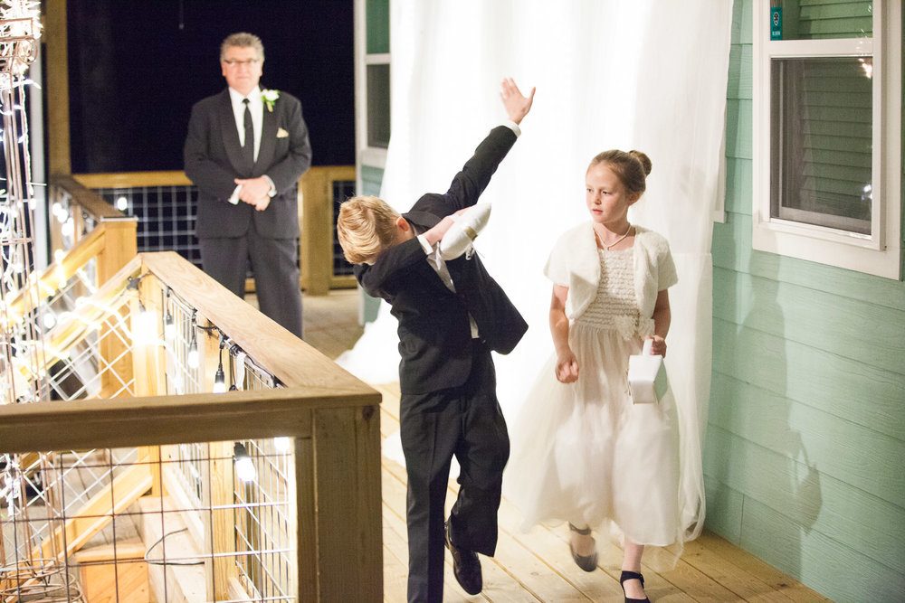 a little dabbing by the ring bearer to celebrate