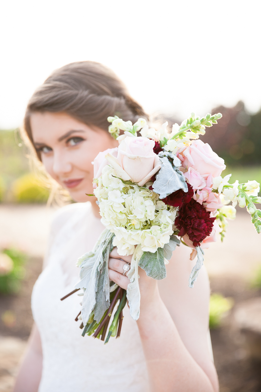 one more dreamy image of Melanie's bouquet, created for her bridal session by Meryl Fisackerly of the Rambling Rose