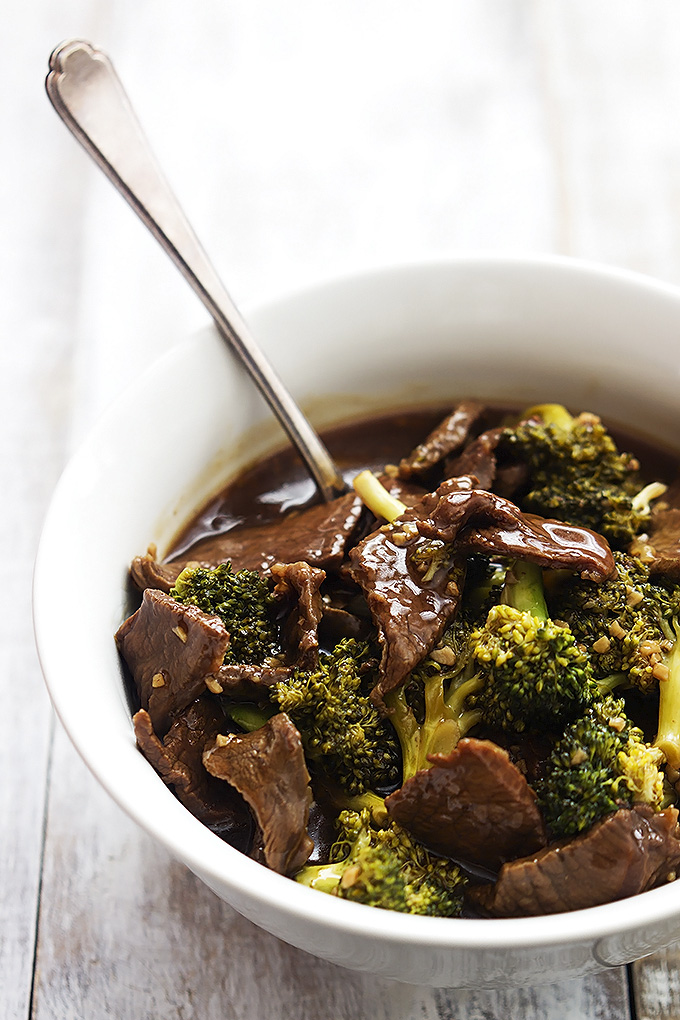 broccoli beef - lecremedelacrumb.com