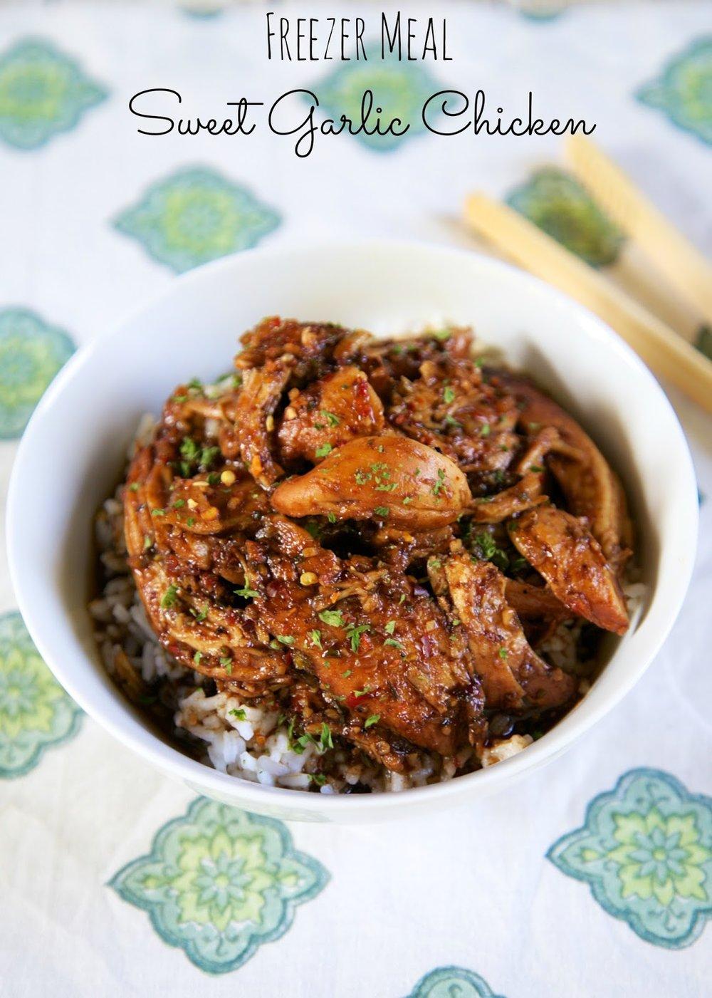 sweet garlic chicken - plainchicken.com