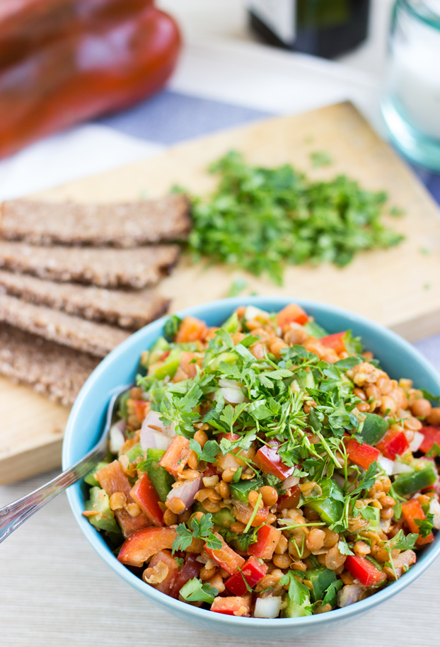 turkish lentil salad - hurrythefoodup.com