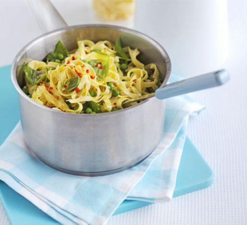 summer pea pasta - bbcgoodfood.com