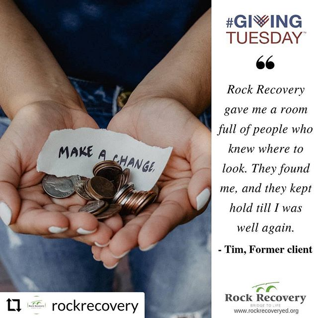 For the second year, we are excited to be supporting @rockrecovery this #givingtuesday! A portion of today's sales will be donated to this incredible organization that helps individuals on their journey to freedom from disordered eating