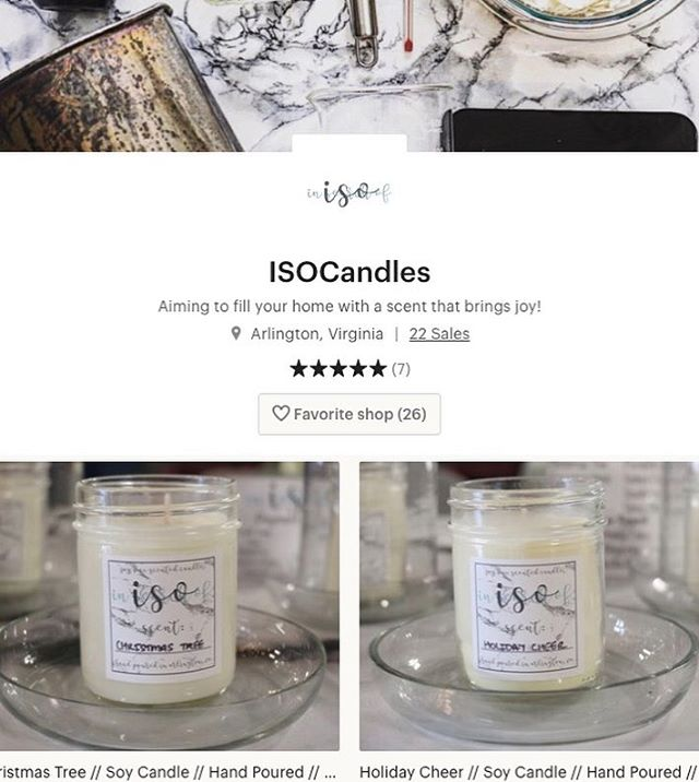 More of an @etsy shopper? No worries! We have many of our holiday and year round scents listed on our page! . . . . #candles #soycandles #etsy #handpoured #womanowned #isocandles #iso #smallbusiness #arlingtonva #shoplocal #dc #dmv