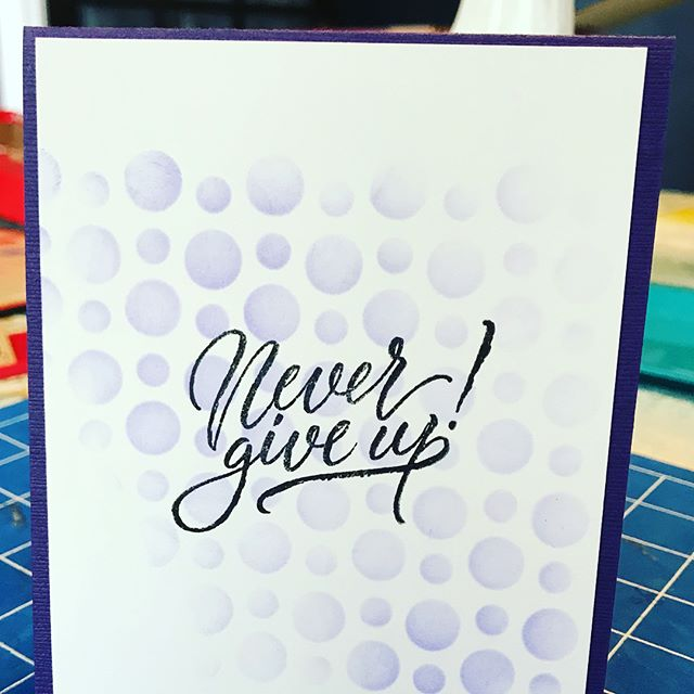So many goodies I got to play with today!  I love spending the day making cards of encouragement.  Wonderful items from @brutusmonroe  #brutusmonroe #eviedoesit #butterfliesforlupus #lupus #handmade #cardclass #stencil #purpleforlupus #lupusawareness