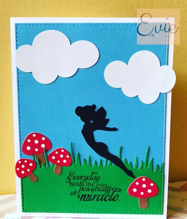 After hours and hours of putting patterns together I finally made a card lol.  I love it! Fairies and butterflies are my favorite.  And this card simple as it is, gives me warm fuzzies.  #ldrs #ldrscreative #hedgehoghollow #broughttolifebyyou #eviedoesit #papercrafts #greetingcards #shopsmall #doodlebug #sweetnsassystamps