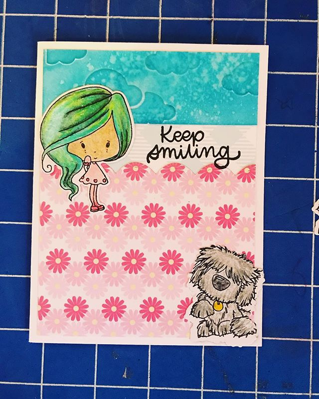 @thehedgehoghollow Love how this turned out.  When you are coloring and watching anime, you end up with green haired mini Winnie's lol.  #miniwinnie #ldrscreative #hedgehoghollow #broughttolifebyyou #eviedoesit #papercrafts #greetingcards #handmadegreetingcards #smallbusiness #cardkit #thehedgehoghollow