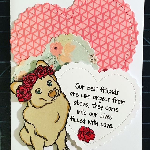 Please check out my latest blog hop for @jessicalynnoriginalstamps  I had so much fun working with this stamp set.  This blog hop will also be used to donate to @luckymutts #luckymuttsrescue  a great cause!  Let's show them some love! #loveyourpetshop2018 #jessicalynnoriginal #eviedoesit #handmade #greetingcards #charity #donations