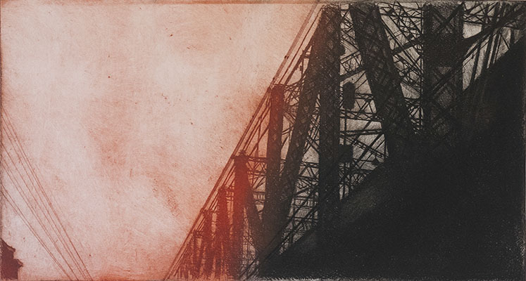 Queensboro Bridge 5, 2012   etching plate: 15 x 28 inches  paper: 21 x 35 inches $1200