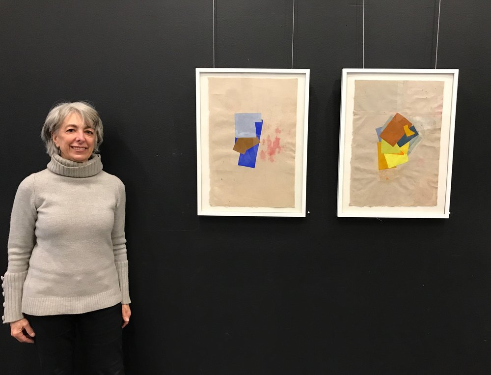 Jean Feinberg with her work
