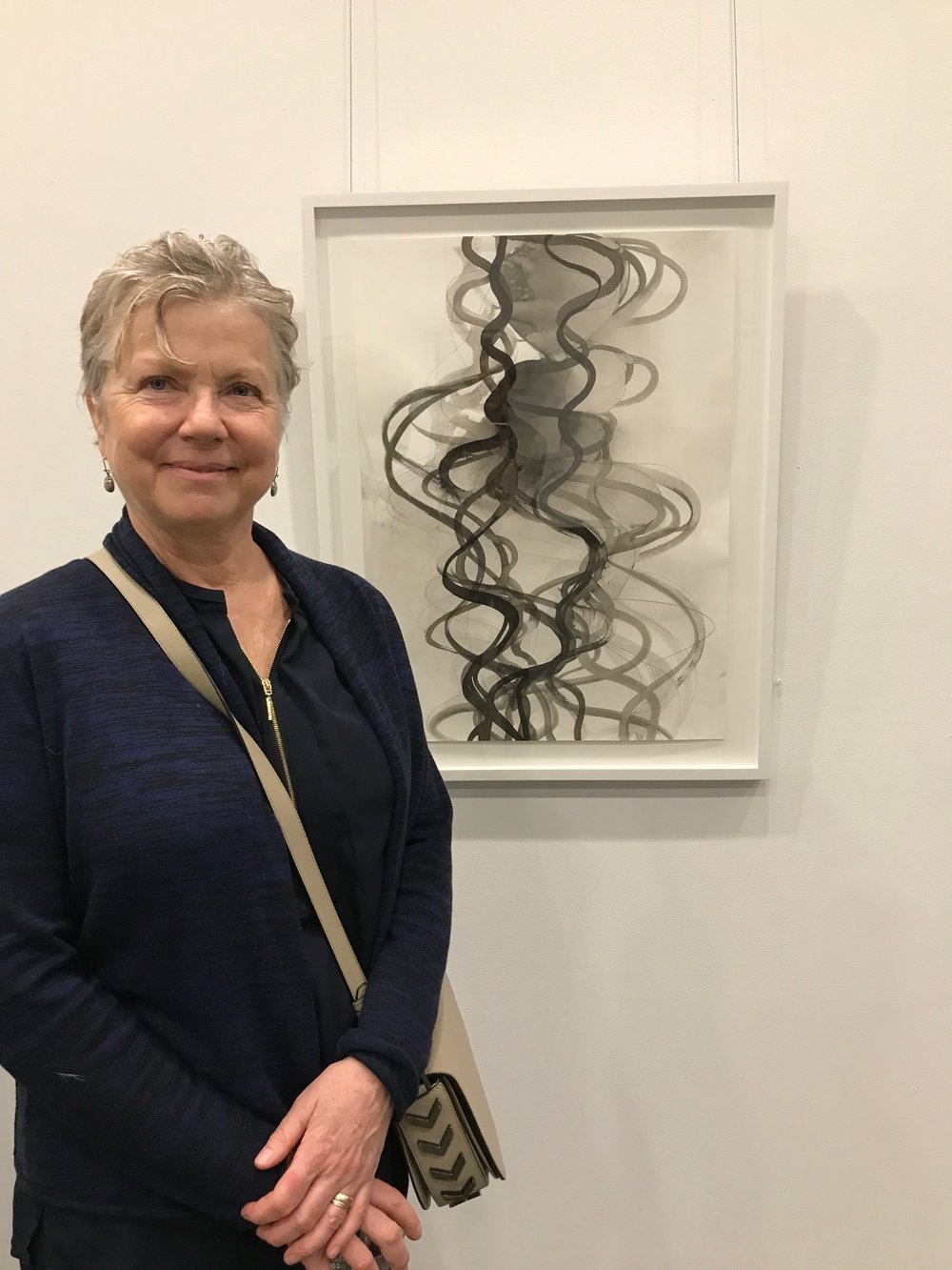 Margaret Neill with her work