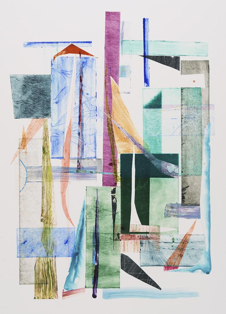 "Above Beyond #8, Monoprint, plate size 27 x 19"", paper size 27 x 19"", $1200"