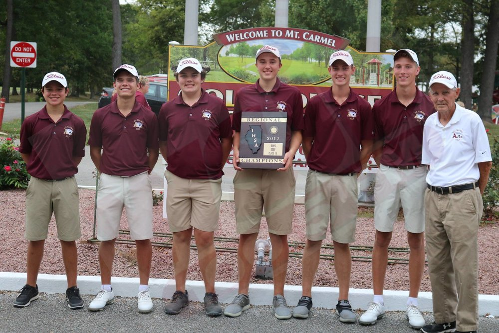 BOYS GOLF - First Round play is underway at the IHSA Class 1A Boys Golf State Finals at Prairie Vista Golf Course in Bloomington.Click the link for the latest team scores from the IHSA as the Mt. Carmel Golden Aces look to bring home the state championship.