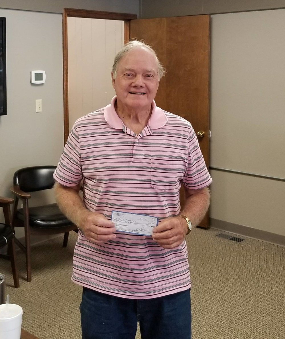September Winner Norman Timberlake