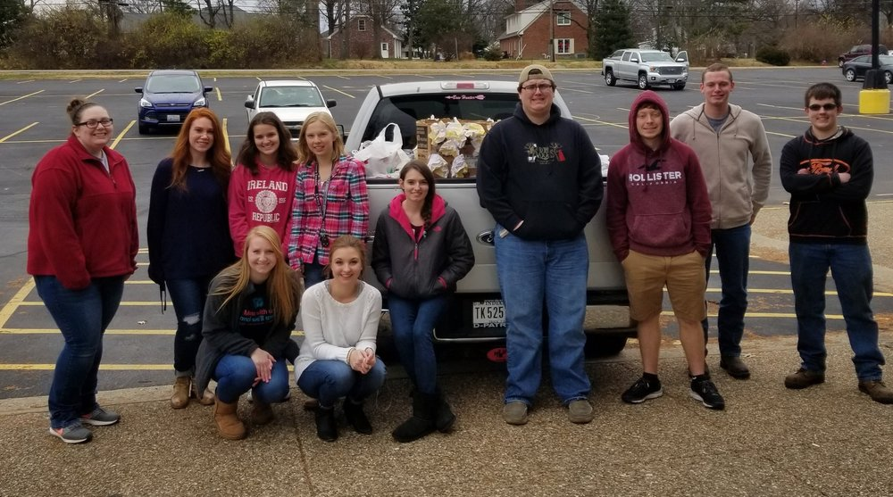 Members of the Wabash Valley College Student Senate delivered over 2,000 non-perishable food items to the WADI Food Pantry. The items were collected on campus during the month of November.