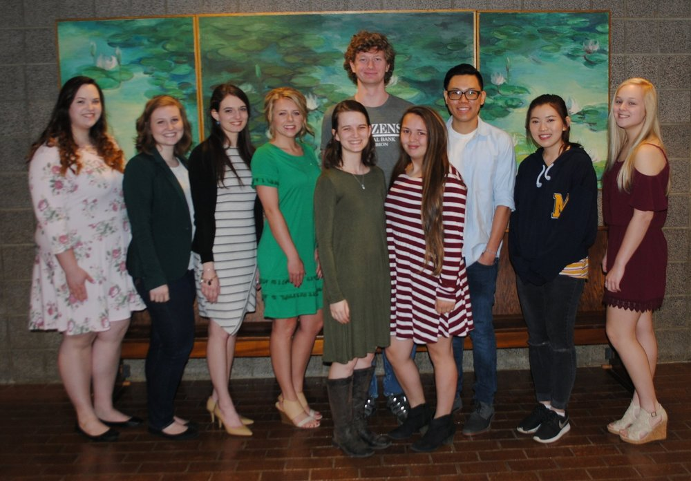 Phi Theta Kappa Members, left to right: Abygail Hicks, Madison Ferreira, Rachel Byrns, Holly Hawkins, Kaylee Epperson, Dalen Stopher, Katherine Embry, Hoan Nguyen, Vy Nguyen, Kara Price