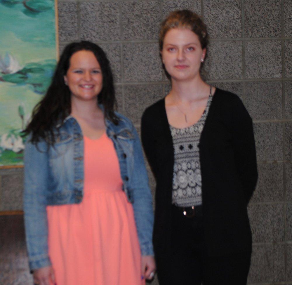 Phi Theta Kappa Scholarship Recipients, left to right: Jacey Schwarzlose, Lauren Goodson