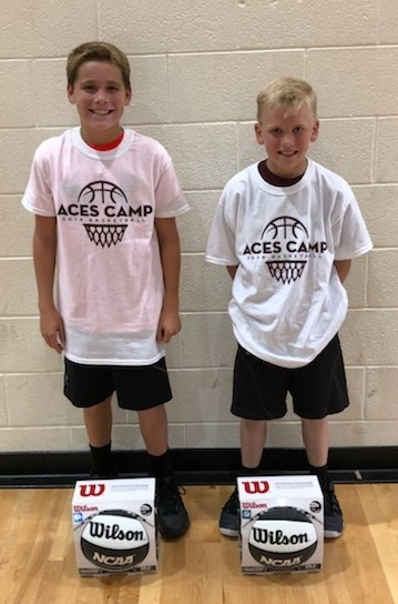 Dribble Cone Speed Dribble Champ: (L-R)  5th Grade - Blake Strine  4th Grade - Dean Belt  6th Grade - not pictured Andrew Militoni