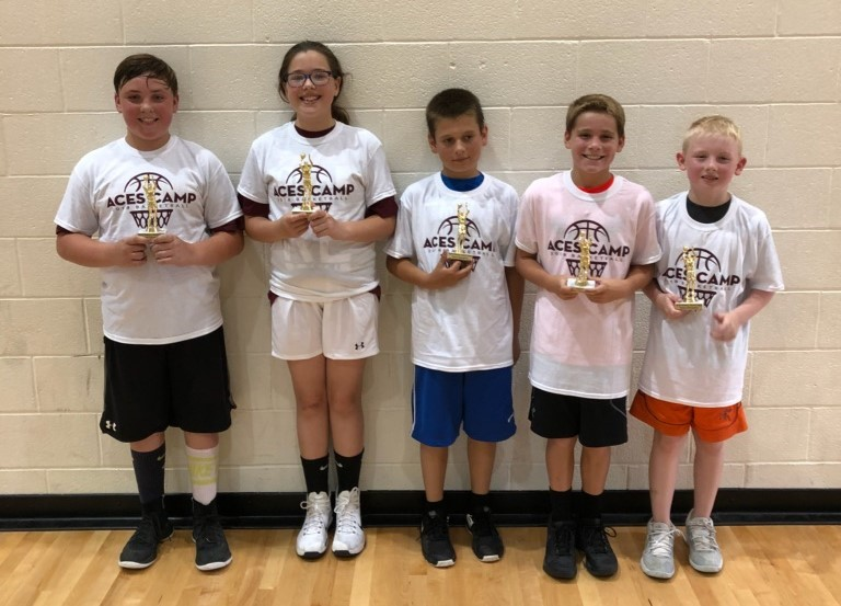 Tournament Team Champions (L-R)  Levi Banks, Emma Etheridge, Brendan Bowser, Blake Strine, Lane Alka