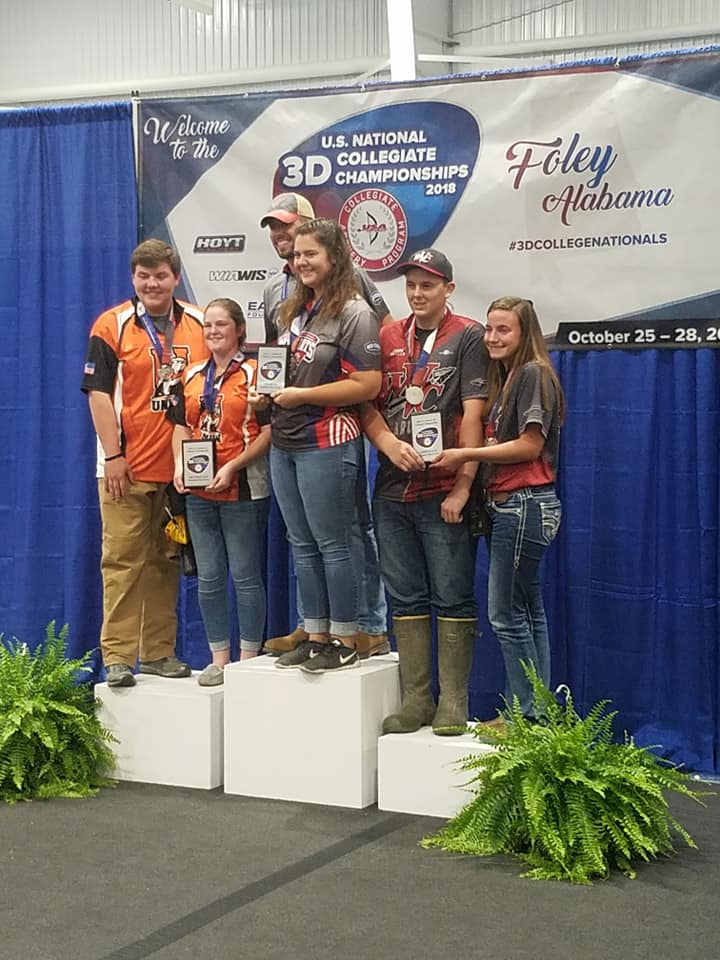Mixed Team Bowhunter: Jacob Quillen and Jessica Shilling (pictured at right) accept the third-place plaque for the men and women's mixed team bowhunter class.