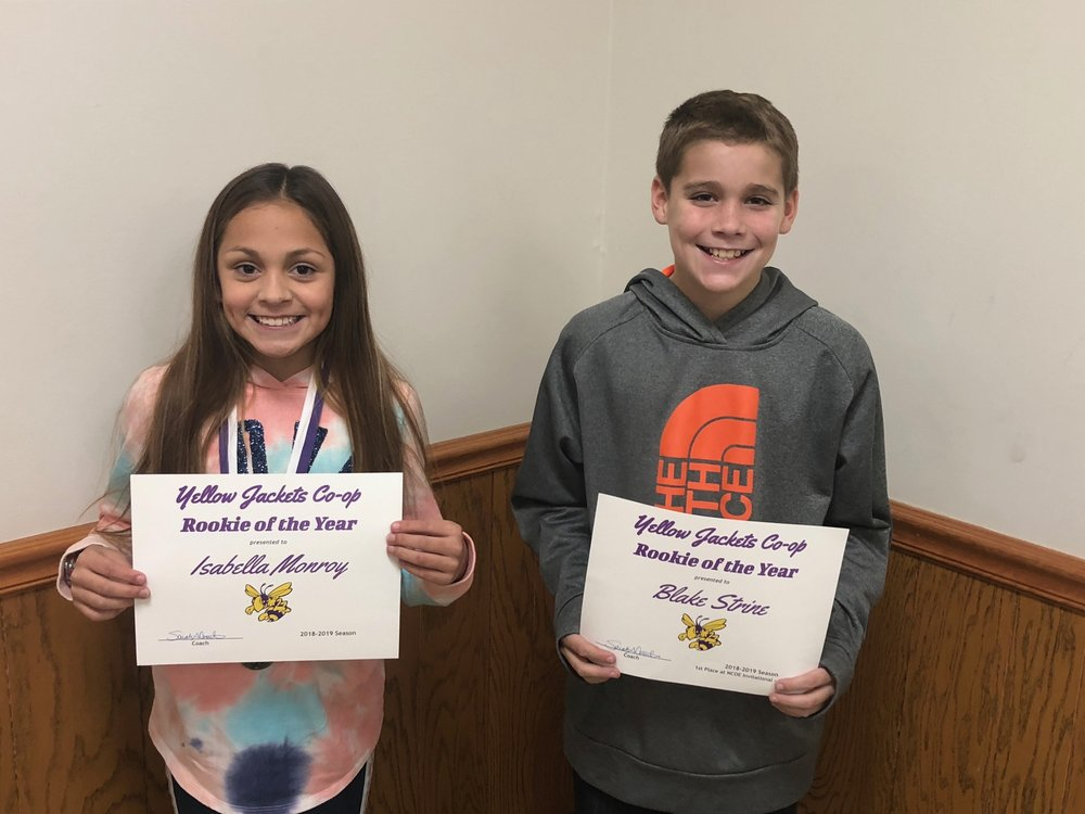 Cross Country  Isabella Monroy and Blake Strine - Rookie of the Year