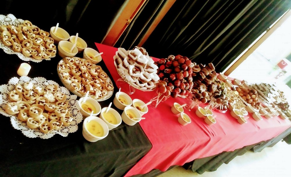 One of the highlights at the WVC Foundation Dinner Dance was the beautiful dessert table filled with delectable desserts prepared by Anna Bunting of the Red Café.
