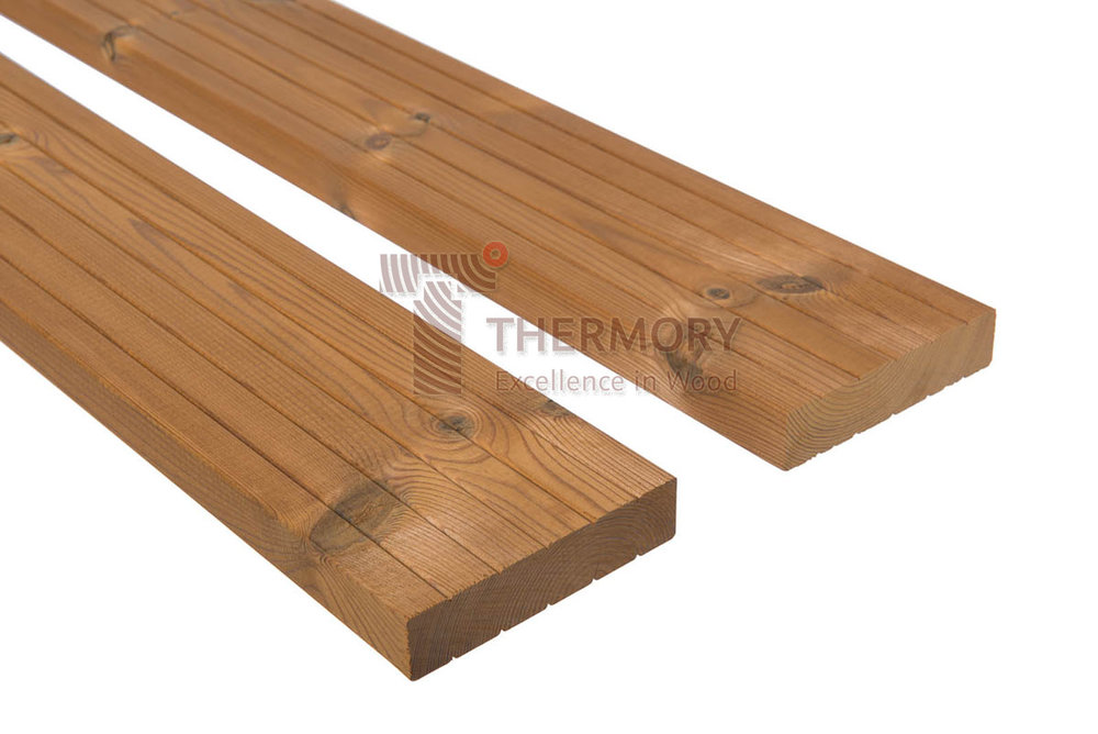 D30 26x115mm - The D30 profile is classic decking board which does not require any additional fitting systems.