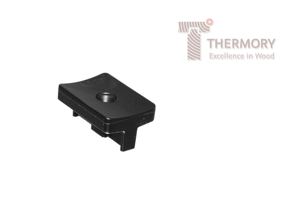 Thermory®Plastic Clip - The plastic clips works in the same way as the steel clip, they are screwed into the joists and the decking boards simply slot into the profile.Product InformationSimple Thermory® Hidden Fixing SystemDesigned for use with D4 sg, D30 profile decking boardsEasy installationNo visible screwsQuick installation without specialized toolsLeaves a 6mm gap between boards