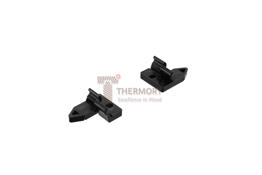 Thermory®Plastic Clip - Thermory® TENI® Clips are screwed into the joists at the pre-defined drill points,with a maximum angle of 65° taking care to leave a 6mm gap between the boardsProduct InformationUnique Thermory® Hidden Fixing SystemEasy installationNo visible screwsEasy to replaceQuick installation without specialized toolsThe 8mm clip height helps prevent wood to wood contact, ensuring proper ventilationThe clips avoid chain reaction by allowing each board to move independentlyBoards are suspended by the clips, allowing for the slight swelling or shrinking, that occurs naturally