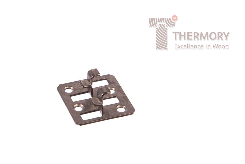 B1-1 - B1-1 clips have been engineered for the top and bottom tongues of joining cladding boards to slot into to, allowing for 4mm spacing. If boards are to be fitted vertically, they should be further secured via an all weather adhesive and/or a metal stop.Product InformationThermory® B1-1 FasteningsInvisible fixings for Thermory® cladding with a C6 & C9 profileFit cladding without unsightly face screwsAutomatically allows for 4mm spacingAvailabel as well with black coating