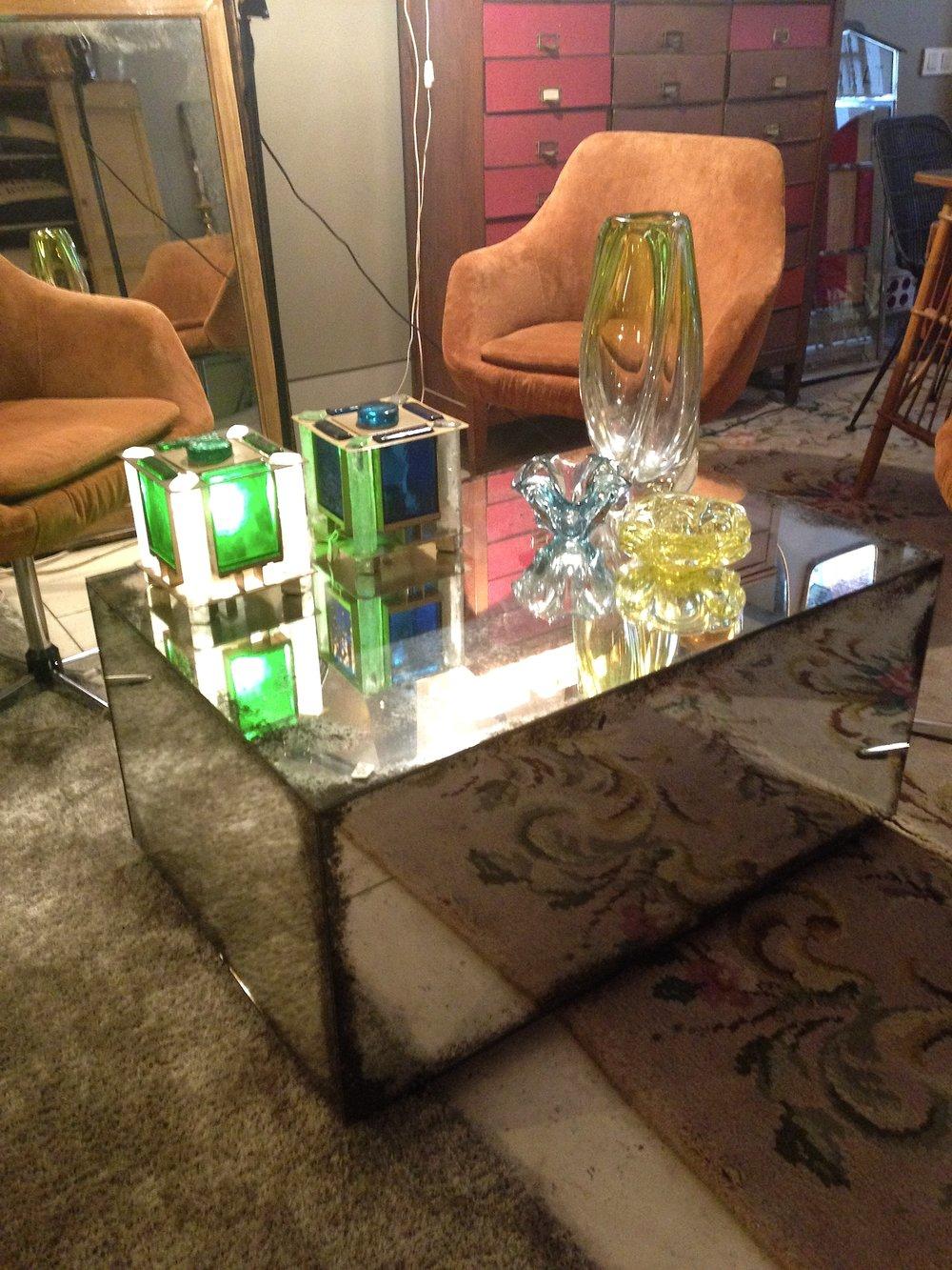 Mesa cubo de cristal envejecido - Se hace a medida
