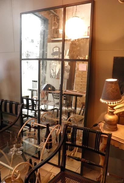 Espejos biselados antiguos sobre estructura de hierro - Se hace a medida