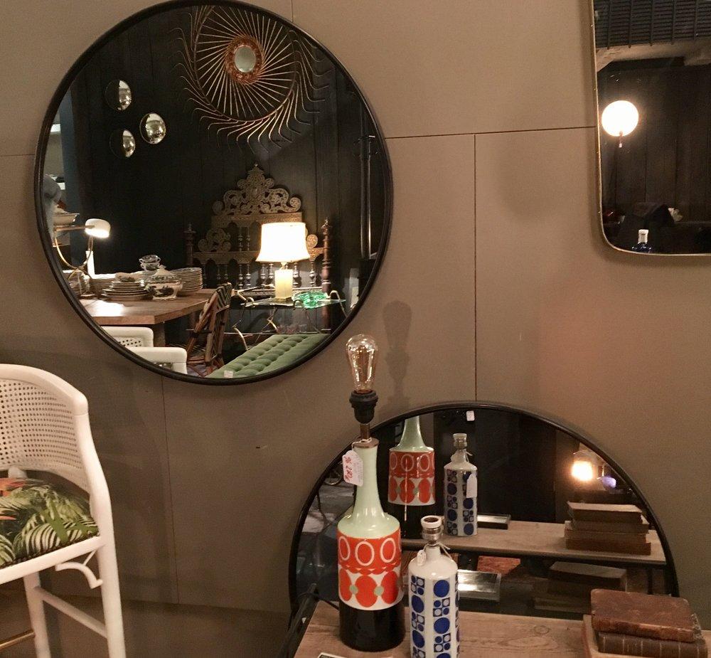 Espejo hierro diámetro 90