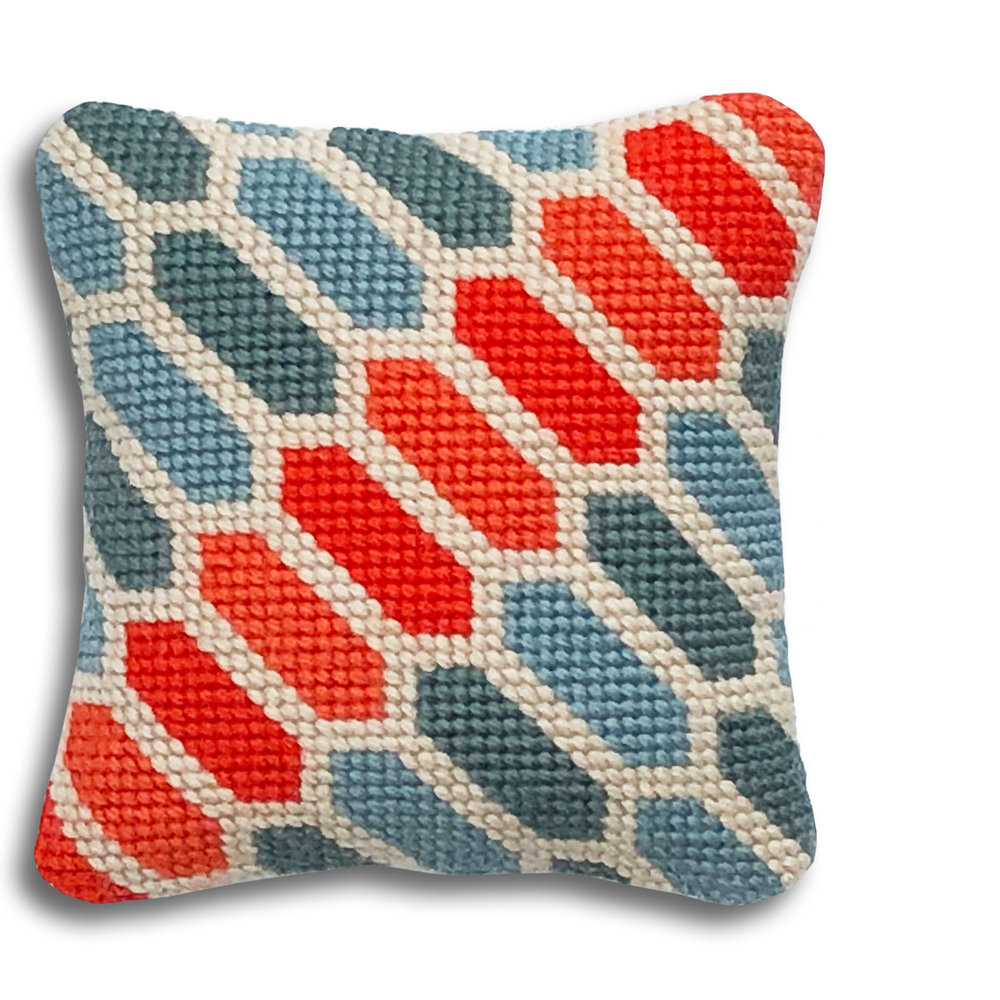 Geometric Hexagons mini kit    Blue and orange colourway  £16  (includes free UK postage)