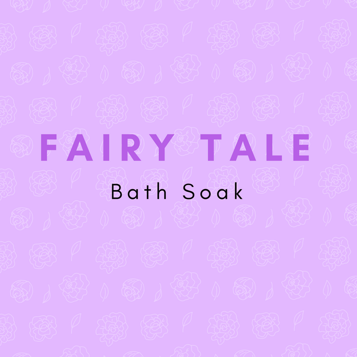 A sweet blend of florals and relaxing scents that will transport to your favorite fairy tale. Lavender-scented epsom salts, Himalayan salt, chamomile flowers, rose petals, and lavender buds.