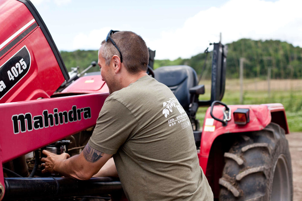 He insists it's a solid tractor otherwise, - but we all know Mahindra is not made in America.