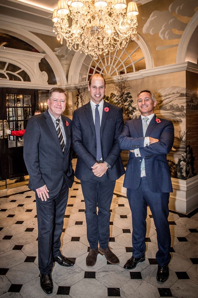 Honoured to have the support of HRH at our special sponsor event - #hotelschoollondon Mick Clarke, Chief Executive of the Passage. His Royal Highness, the Duke of Cambridge. Plus a.n.other.