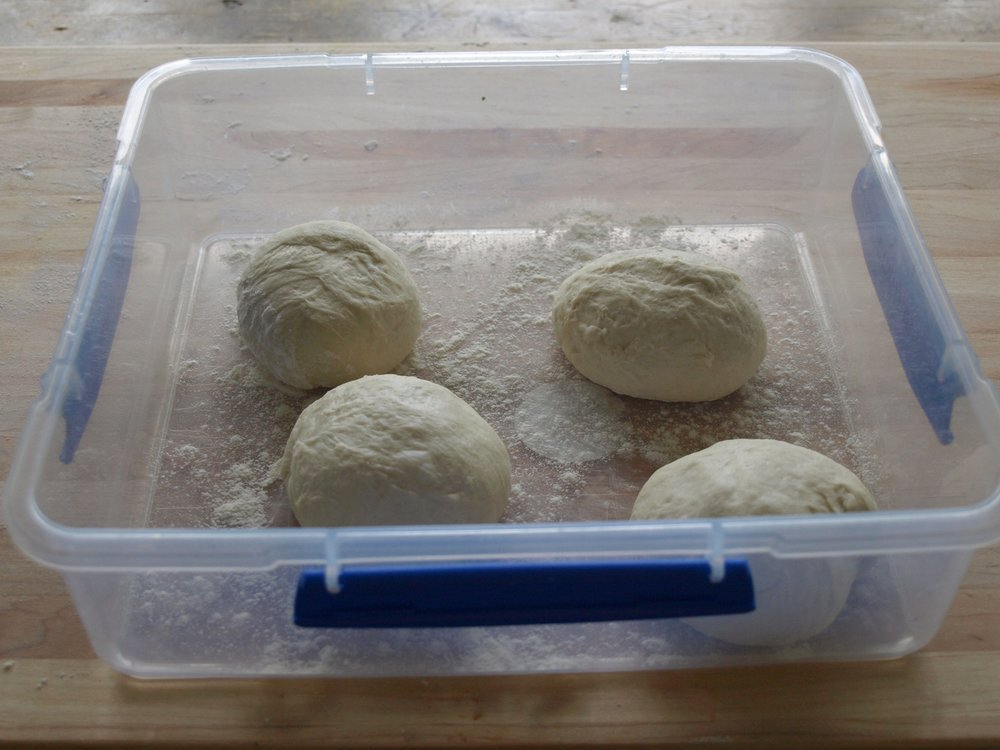 Refrigerate the dough balls for easy rolling.