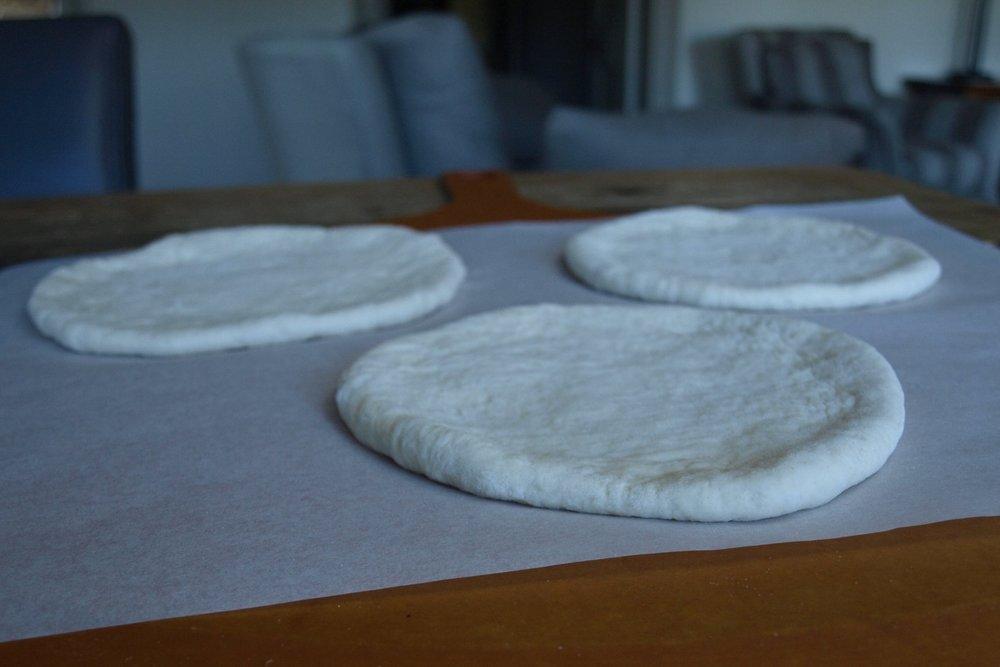 Rest the tangzhong pita before baking.